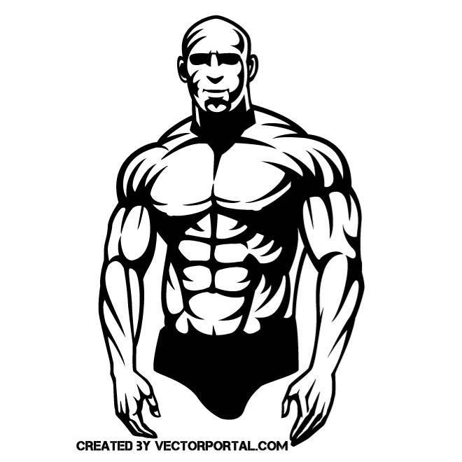 660x660 Muscular Guy Vector Graphics