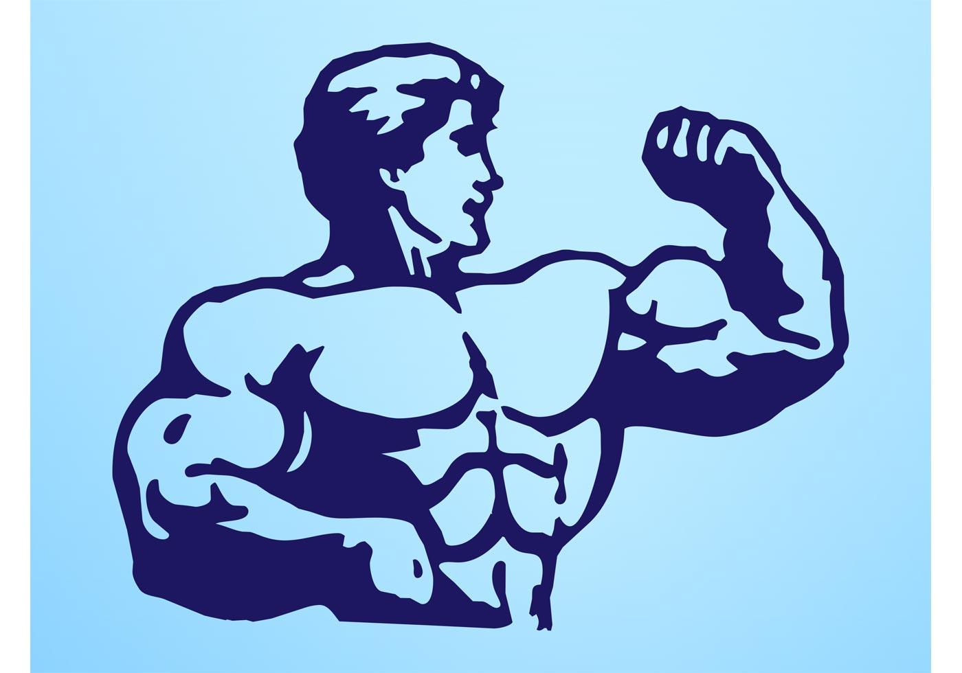 1400x980 Muscle Man Free Vector Art