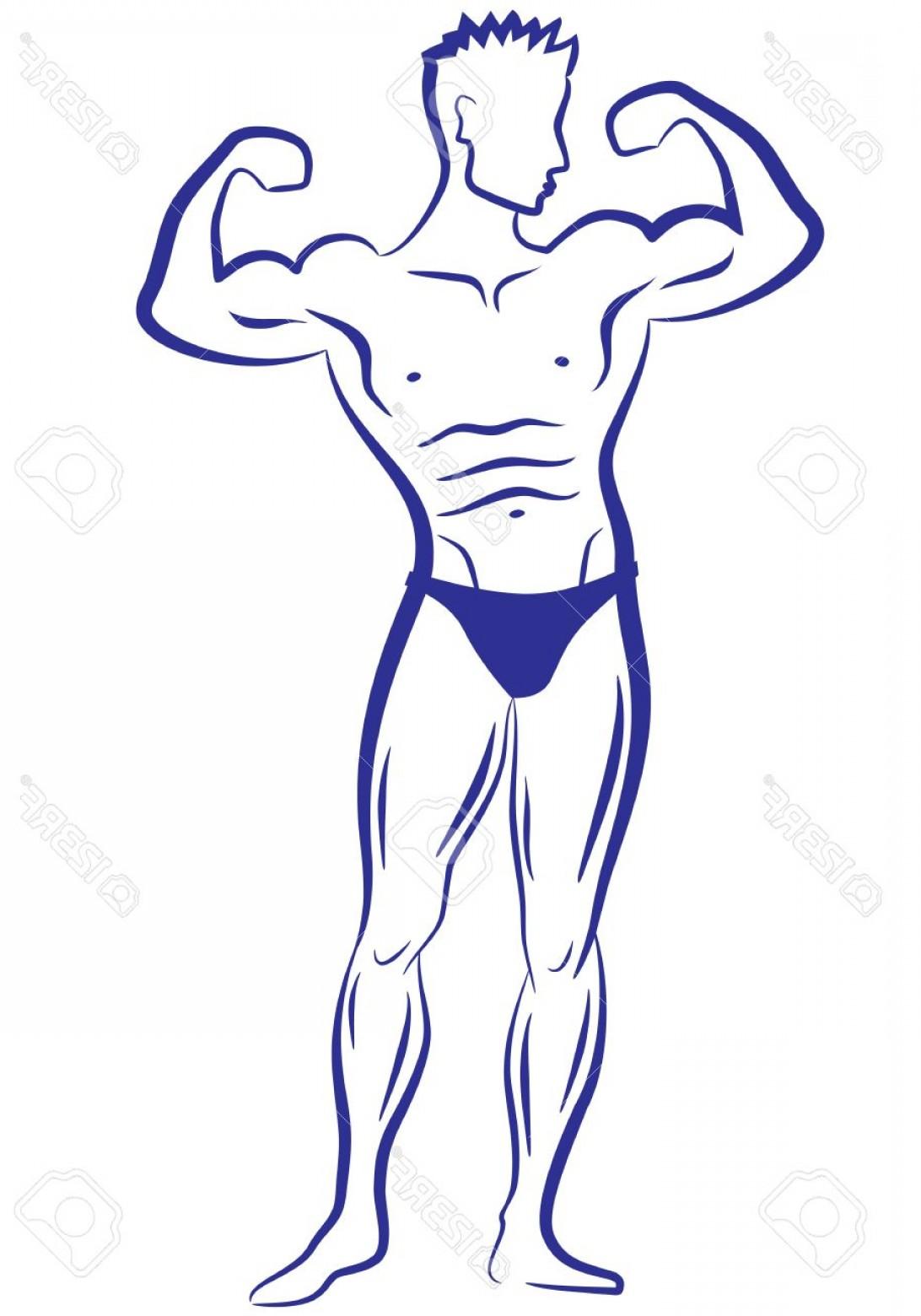 1092x1560 Photobody Builder Muscle Man Vector Sketch Shopatcloth