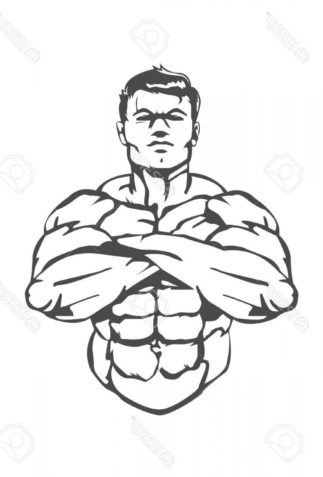 1058x1560 Photostock Vector Muscle Man This Is A Great Icon For A Boxing Gym