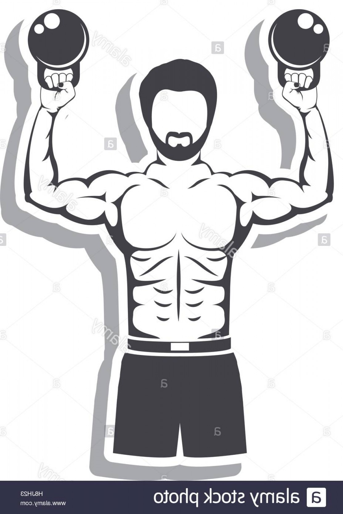1113x1668 Stock Photo Muscle Man Lifting Weights For Crossfit With Shadow