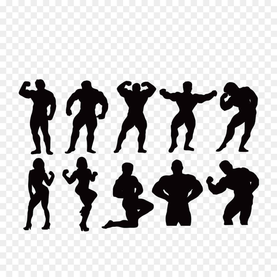 900x900 Bodybuilding Fitness Centre Silhouette Muscle