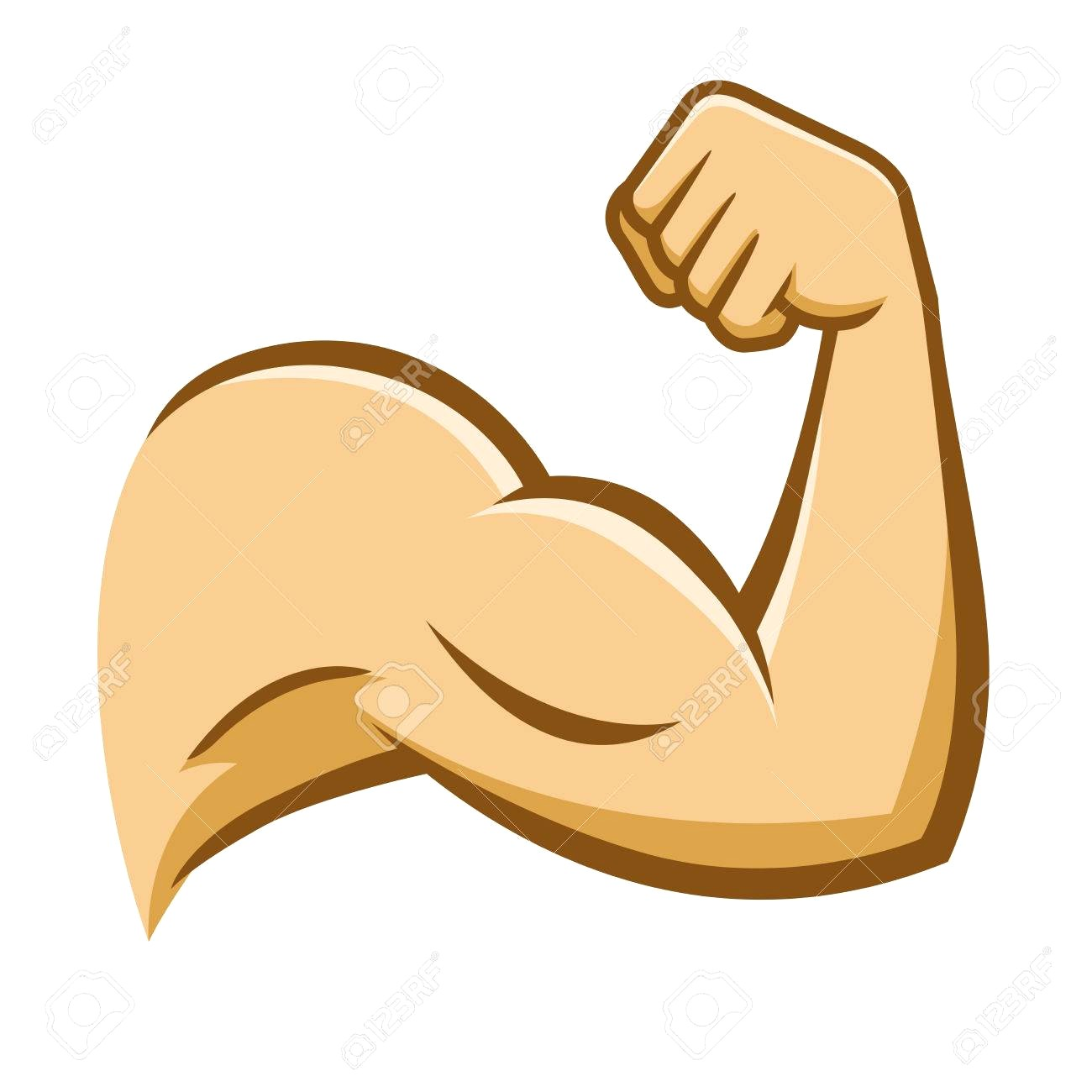 1300x1300 78779128 Vector Stock Of A Strong Muscular Arm On White Background
