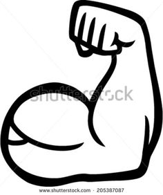 236x282 A Cartoon Style Vector Illustration Of A Muscular Arm Flexing In A