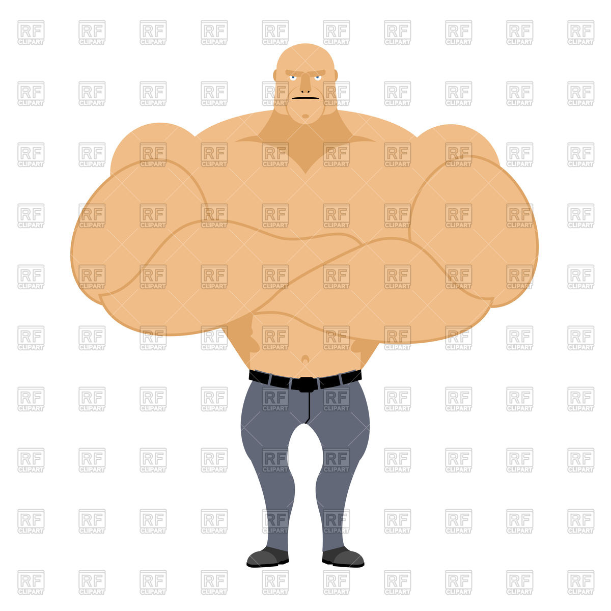 1200x1200 Strong Man, Muscleman On White Background, Bodybuilder With Big