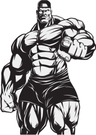 190x266 Strongman Bodybuilder Muscles Shape Vector Art Fun By Andriy