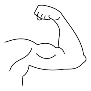 300x300 Hand Muscle Royalty Free Vectors