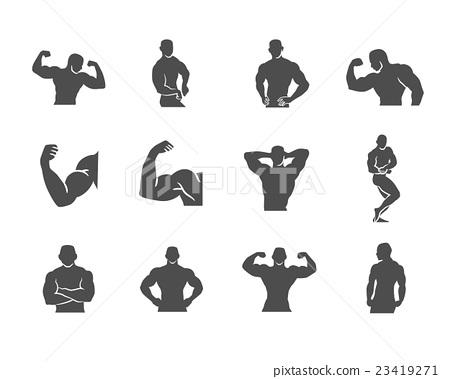 450x379 Bodybuilder Bodybuilding Muscle Vector Icon