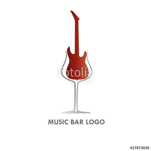 500x500 Logo Music Wine Bar Stock Image And Royalty Free Vector Files On
