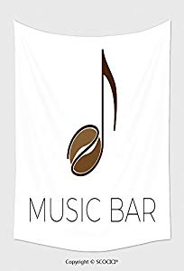 204x300 Home Decor Tapestry Wall Hanging Vector Sign Music