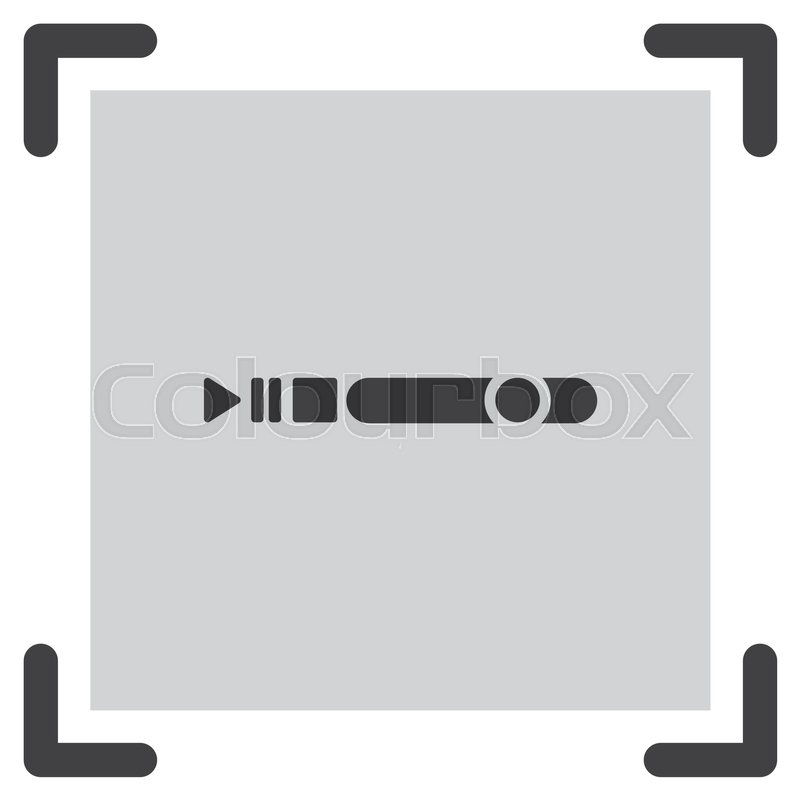 800x800 Progress Bar Vector Icon. Play Pause Stop And Record Button Sign
