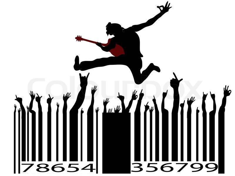 800x600 Rock Music Bar Code Stock Vector Colourbox
