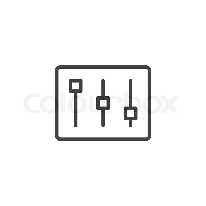 800x800 Settings Bar Line Icon, Outline Vector Sign, Linear Style