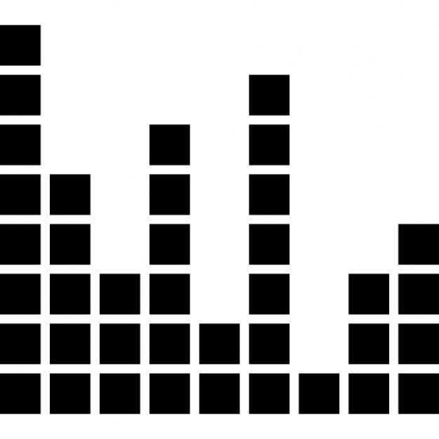 626x626 Sound Bars Made Of Boxes Icons Free Download