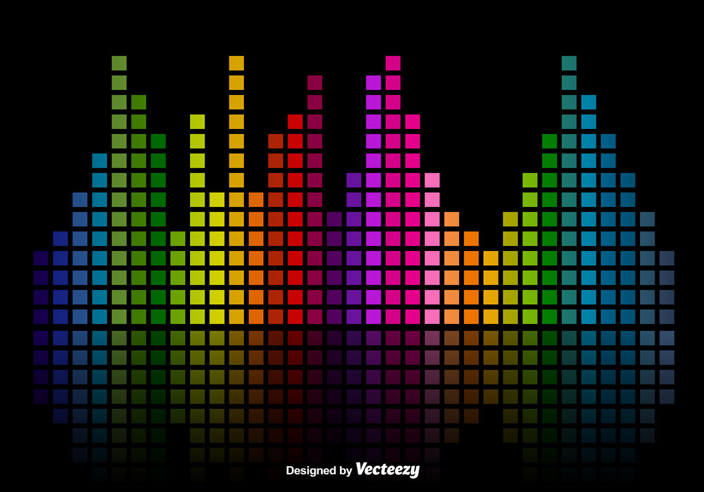 1400x980 Colorful Music Sound Bars Equalizer Vector Background
