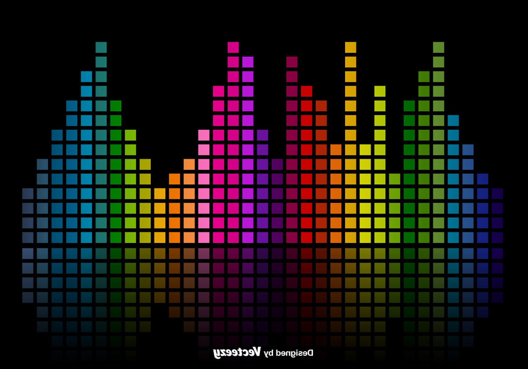 1680x1176 Colorful Music Sound Bars Equalizer Vector Background Shopatcloth