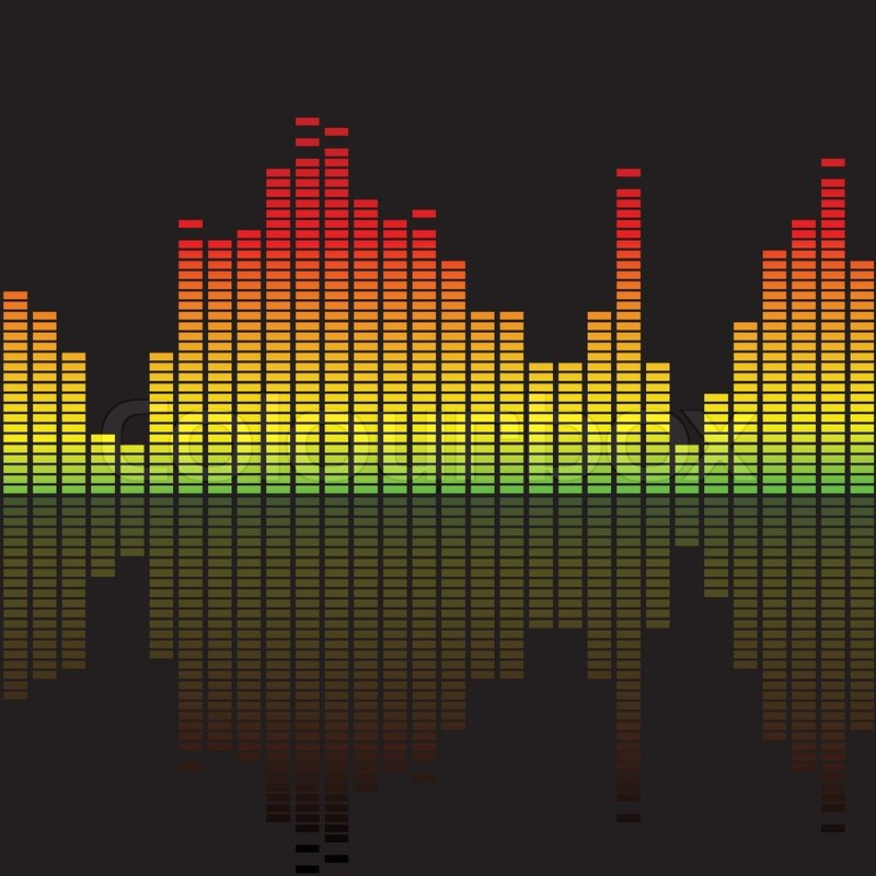 800x800 Colorful Music Equalizer Stock Vector Colourbox
