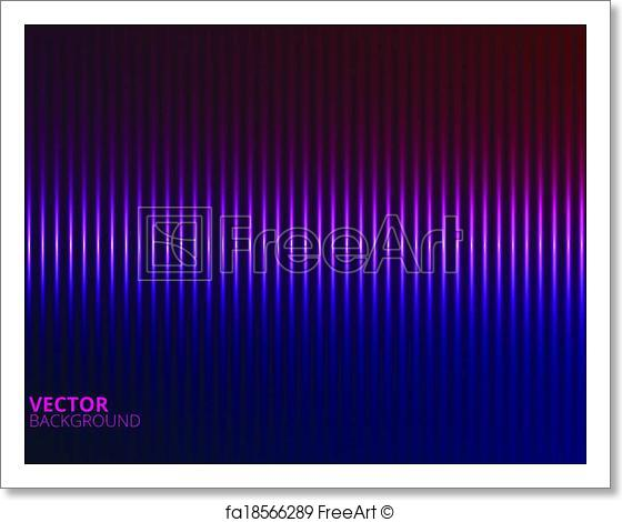 560x470 Free Art Print Of Vector Illustration Of A Violet Music Equalizer