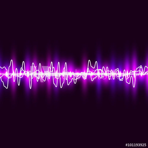 500x500 Sound Wave. Pulse Wave Background. Music Equalizer. Vector