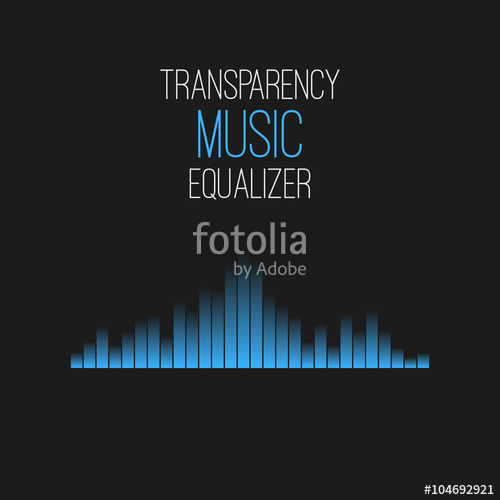 500x500 Transparency Music Equalizer. Vector Illustration Stock Image And