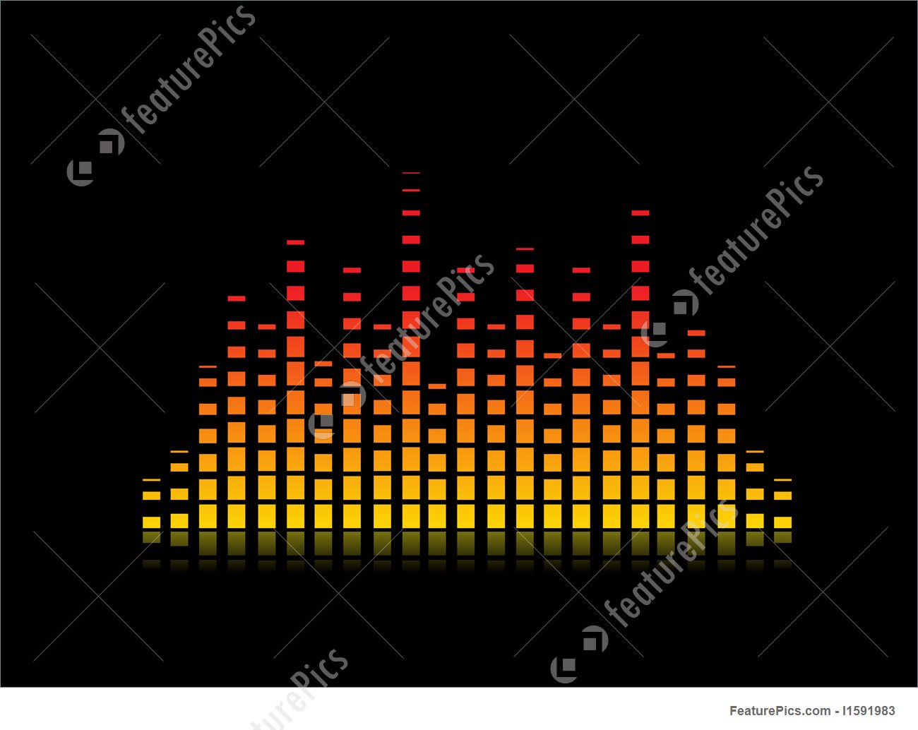 1300x1034 Vector Equalizer Digital Stock Illustration I1591983