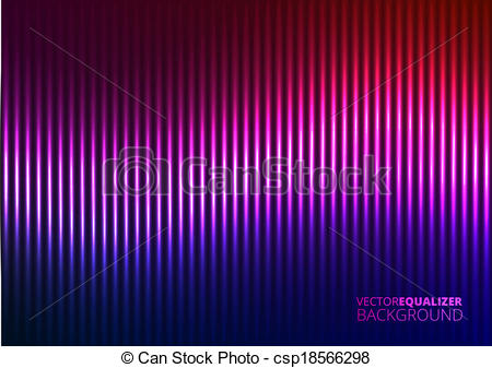 450x337 Vector Illustration Of A Violet Music Equalizer. Vector