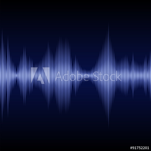 500x500 Blue Sound Wave Music Equalizer. Vector