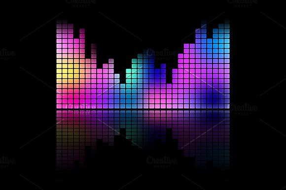 580x386 Color Music Sound Equalizer Vector By Art By Silmairel On