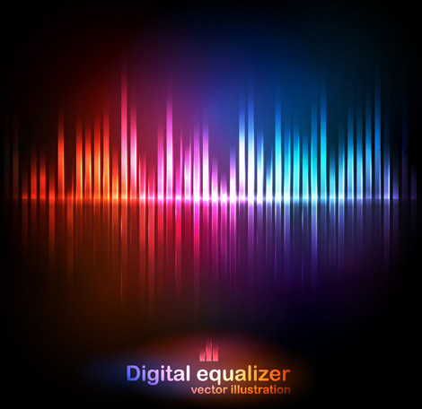 470x456 Colored Music Equalizer Wood Texture Desktop Wallpaper