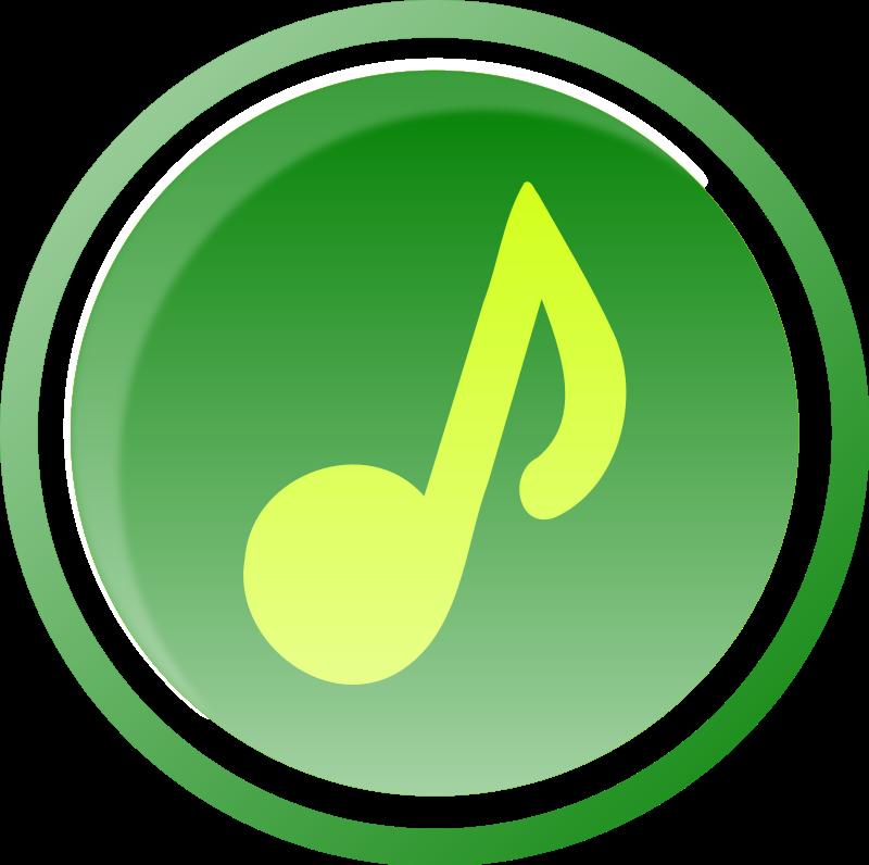 800x796 Music Icon Green 1 Free Vector 4vector