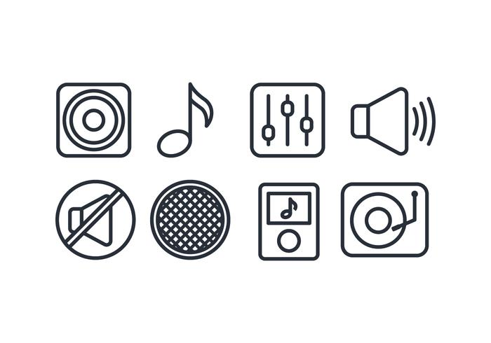 700x490 Music Icon Vector Set