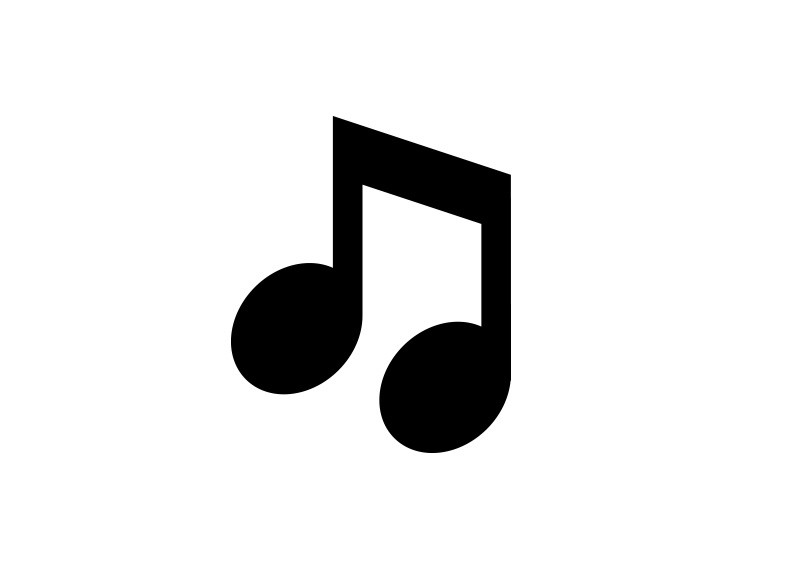 800x566 Music Note Vector Icon