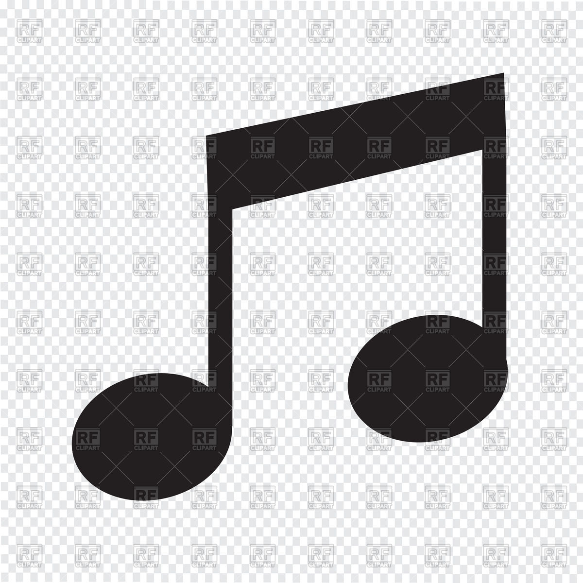 1200x1200 Music Note Icon Vector Image Vector Artwork Of Objects Tumdee