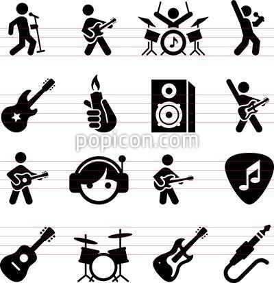 400x413 Rock Music Icons