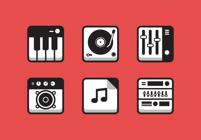 700x490 Vector Music Icon Set