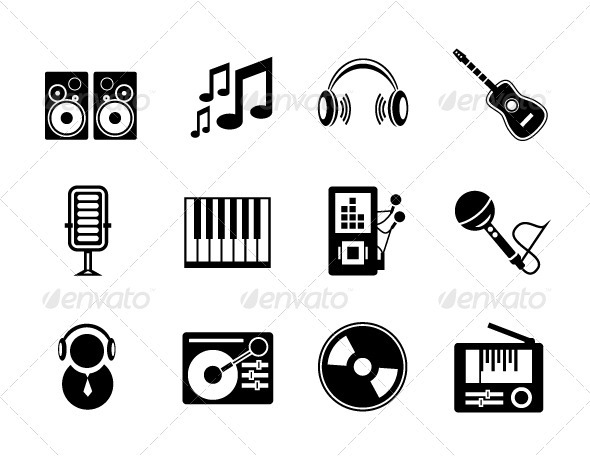 590x457 Vector Music Icons By Antishock Graphicriver