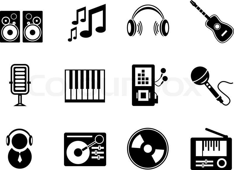 800x579 Vector Music Icons Stock Vector Colourbox
