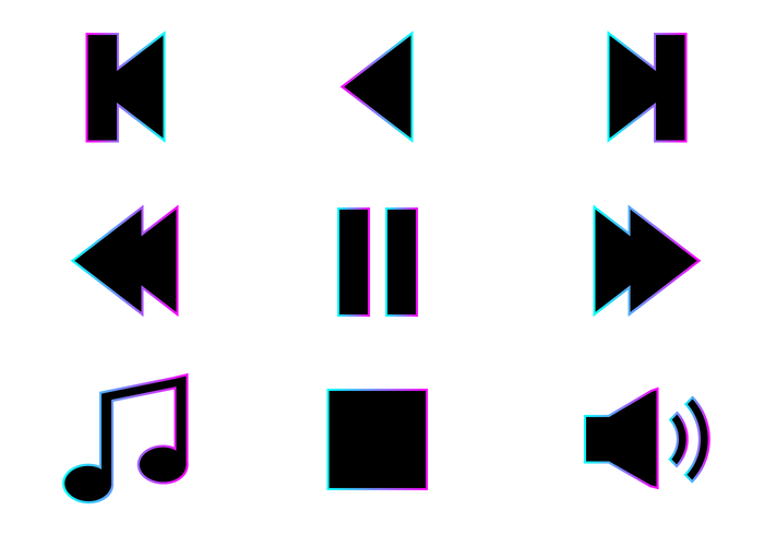 700x490 Free Music Icons Vector