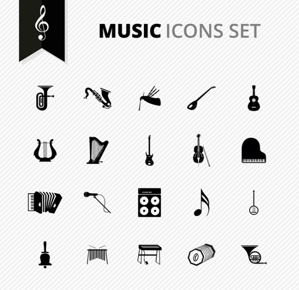 600x582 Free Vector Music Icons Set