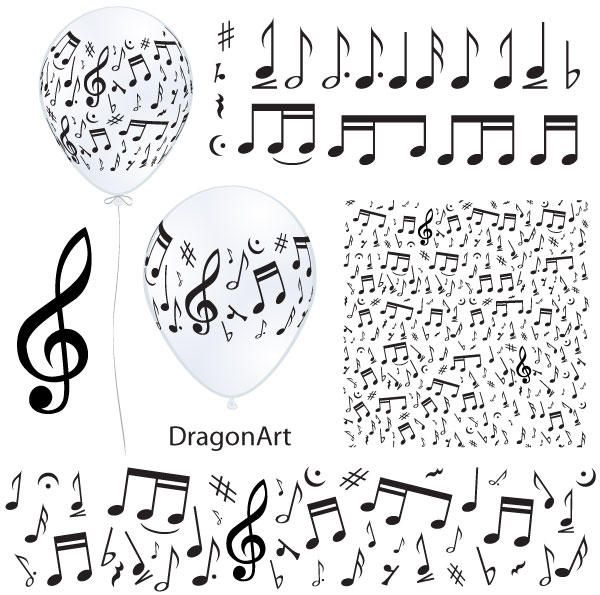 600x595 Music Notes Vector Zene, Music Notes, Note