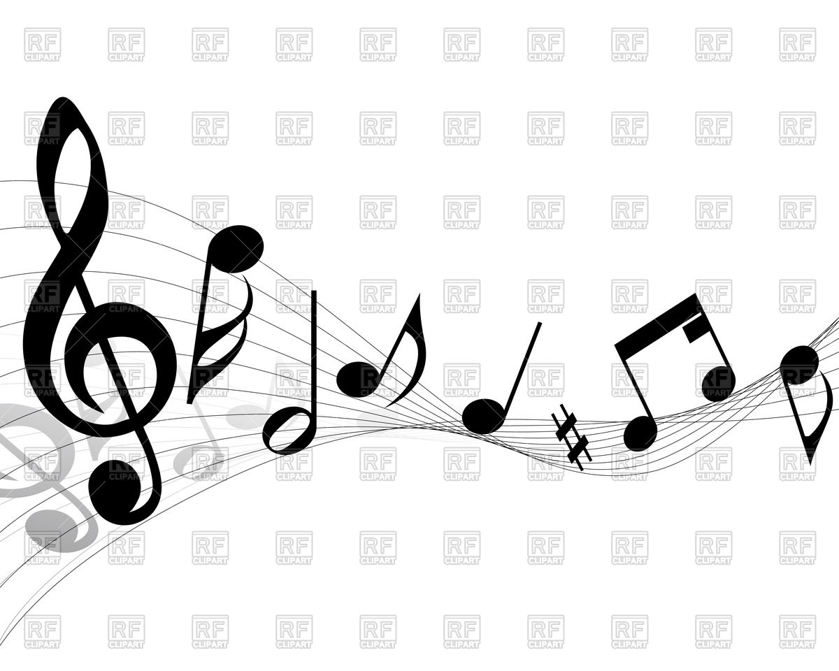 1200x960 Musical Notes Vector Image Vector Artwork Of Backgrounds