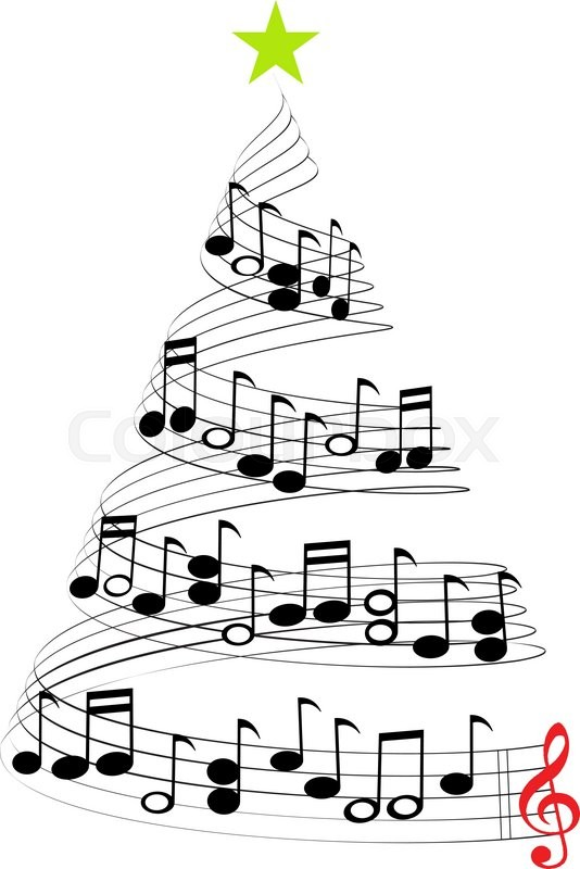 534x800 A Christmas Tree Of Musical Notes Symbolizing Christmas Carols And