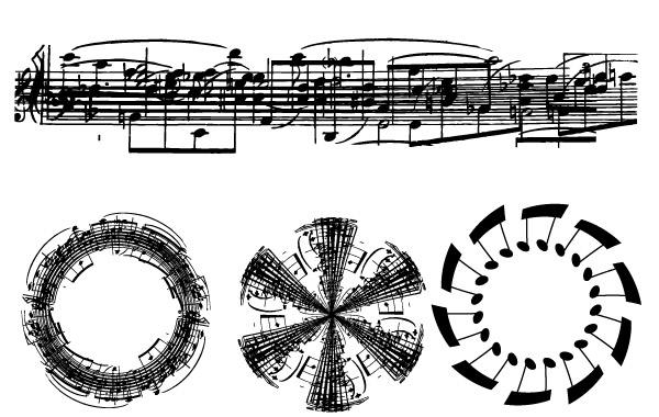 600x380 Sheet Music Note Vectors Free