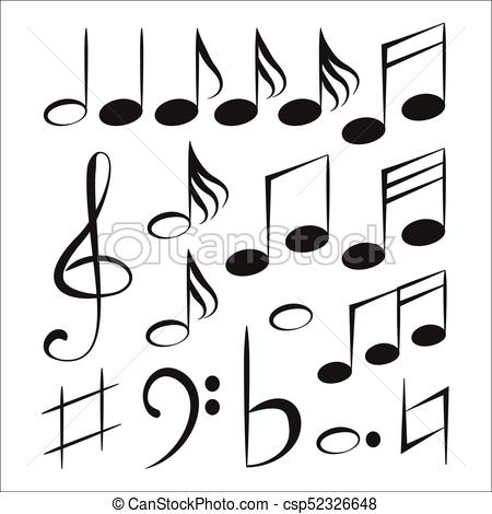450x470 Vector Musical Notes. Vector Illustration Eps 10.