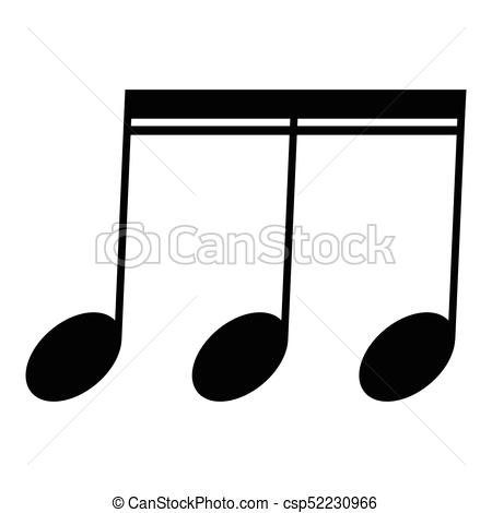 450x470 Isolated Musical Note, Sixteenth Note, Vector Illustration Clip