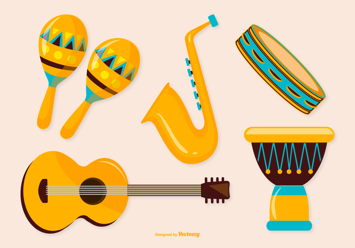 1400x980 Musical Instruments Vector Free Download