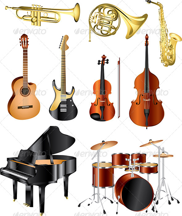 590x698 Musical Instruments Vector Set By Andegro4ka Graphicriver