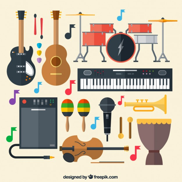 626x626 Musical Instruments Vector Free Download
