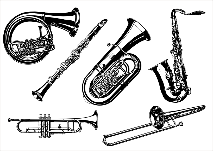 818x578 Musical Instruments The Class Vector A Free Vector 4vector