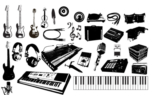 600x380 Musical Instruments Vector Kit Vector Free Download